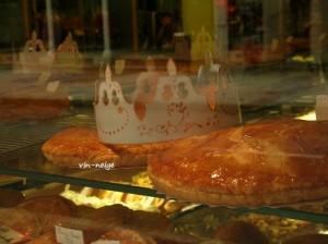 ガレットデロワ。ディジョンのケーキ屋さんにて。